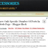 Blogger Accessories Three Column Blogger Template