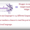 Google translation Widget for Blogger – Translate any website in English to 25 other languages