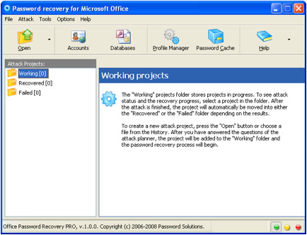 Password recovery Tool for Microsoft Office excel spreadsheets