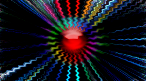 Trippy Red Ball Image